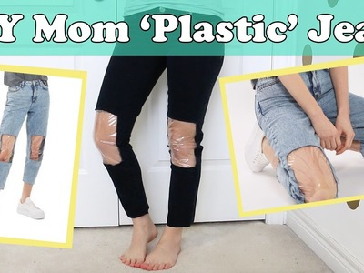 DIY Topshop Clear Knee Mom Jeans Nordstrom | No Sew