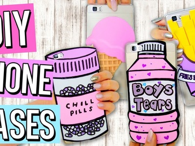 DIY Tumblr PHONE CASES | Cute & Easy Designs! Inexpensive Iphone Case Ideas!
