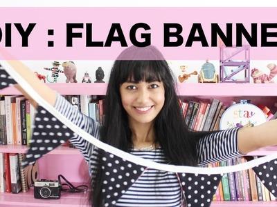 DIY Tutorial - Menjahit Flag Banner (Room Decor Idea- INDONESIA)