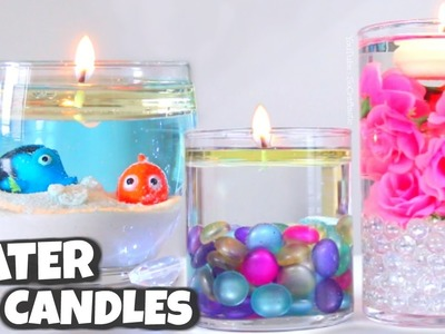 DIY WATER CANDLE. Vase Centerpiece Candles How To - SoCraftastic