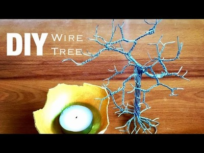 DIY Wire Tree Tutorial | Home Decor | How to make Wire Tree | How to Craft - Anushree's Craft TV