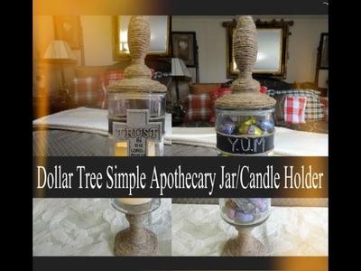 Dollar Tree Apothecary Jar DIY