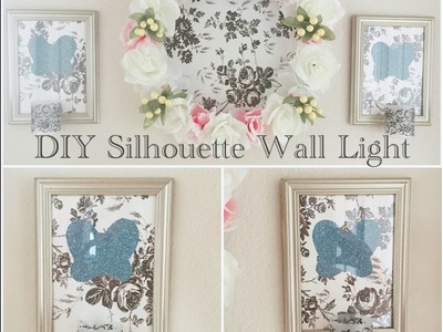 Dollar Tree DIY Shabby Chic Silhouette Wall Light - Easy Less than $4