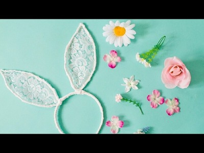 Easter Crafts for Kids : How to Make Bunny Ears Headband | DIY Vintage Bunny Ears | april 2017