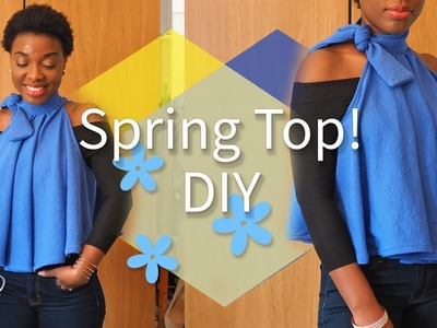 EASY DIY SPRING TOP | FIANCE DOES MY VOICE OVER!