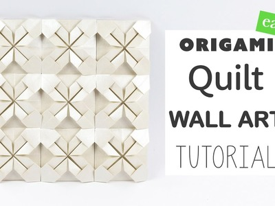 Easy Origami Quilt Wall Art Tutorial ★ DIY ★ Paper Kawaii