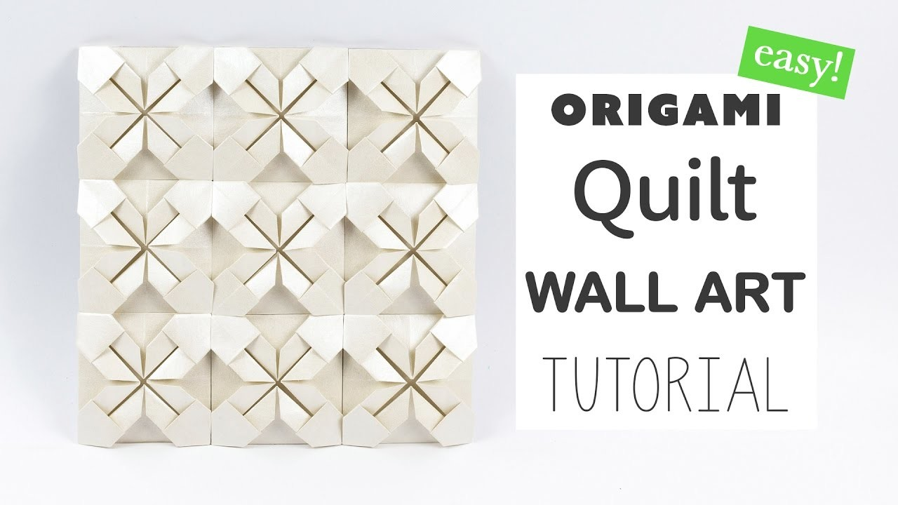 easy origami quilt wall art tutorial � diy � paper kawaii