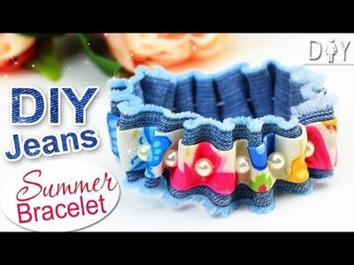 GIRLY Jeans DIY Bracelet Tutorial | Summer CUTE Bracelet