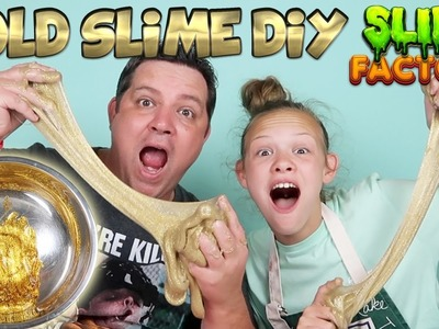 GOLD SLIME DIY Slime Factory Make Your Own Slime Without Borax