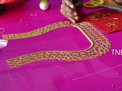 Hand embroidery tutorial for beginners, blouse embroidery designs, basic embroidery designs, diy