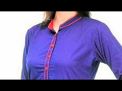 How to attach kurti Collar tutorial DIY
