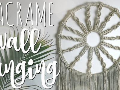 HOW TO: DIY Macrame Hoop Wall Hanging