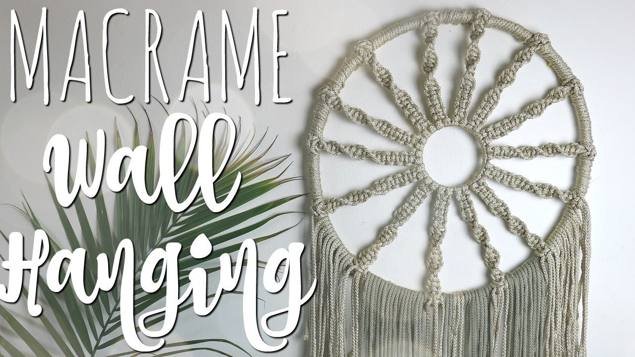 How To Diy Macrame Hoop Wall Hanging