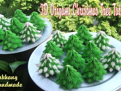 HOW TO MAKE 3D ORIGAMI CHRISTMAS TREE | DIY PAPER CHRISTMAS TREE TUTORIAL