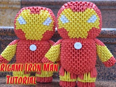 HOW TO MAKE 3D ORIGAMI IRON MAN | DIY PAPER IRON MAN TUTORIAL