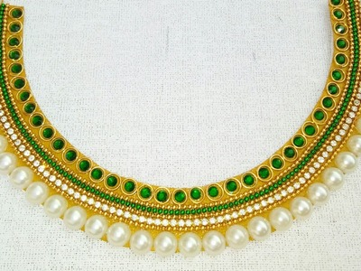 How To Make Bridal Necklace. Designer Necklace. DIY. Chokar. Home Made Tutorial