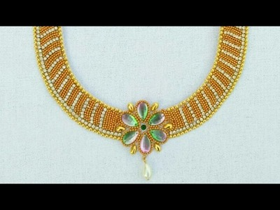 How To Make Bridal Necklace. Designer Necklace. DIY. Chokar. Home Made Tutorial