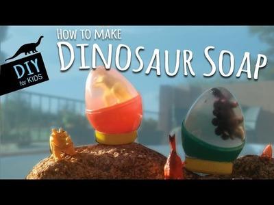 How to Make DIY Dinosaur Soap Using Plastic Eggs | Soap Making for Kids (Beginners)