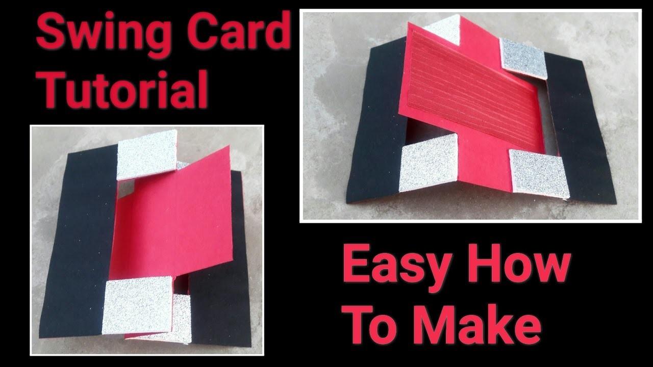 How to make Handmade Swing Card | Easy Tutorial | DIY Handmade Card | Aditi Agrawal |