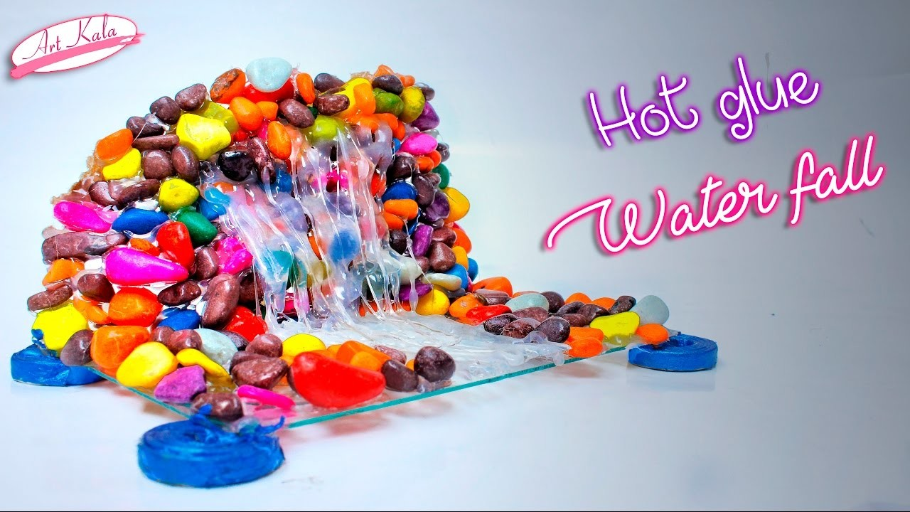 How to make Hot glue Waterfall | Show piece | DIY Artkala 147