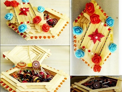 How to Make jewelry box | popsicle stick crafts | DIY | jewellery box | best out of waste