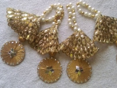 HOW TO MAKE LATKAN.TASSELS FOR INDIAN OUTFIT| DIY |