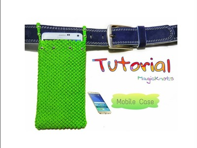 How to Make Macrame Phone Case ♥ DIY ♥.Cell Phone Pouch.