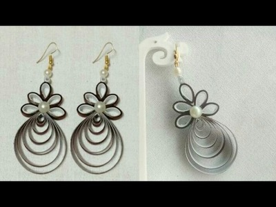 How To Make Paper Earrings. Paper Jewellery making. DIY.Paper Quilling Tutorial