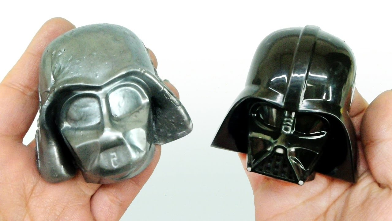 How To Make Steel Slime Putty ! DIY Silver Metal Slime With Starwars Darth Vader