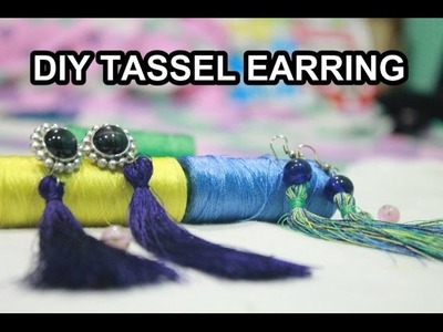 How to make Tassel Earring - TUTORIAL || old earring to new  DIY