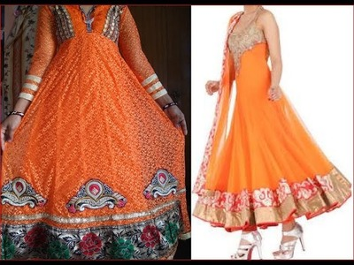 How to stitch Anarkali suit with attached choli DIY अनारकली सूट को संलग्न चोल के साथ कैसे सिलाई करना