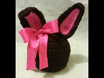 "Learn How To #Crochet ""The Chocolate Bunny Ears Hat"" Toddler Beanie TUTORIAL #374"