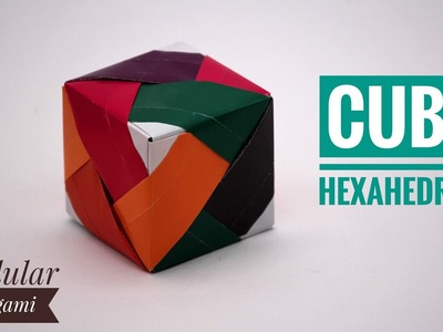 LINE CUBE - HEXAHEDRON Gift Box (Variation) - DIY Modular Origami Tutorial by Paper Folds