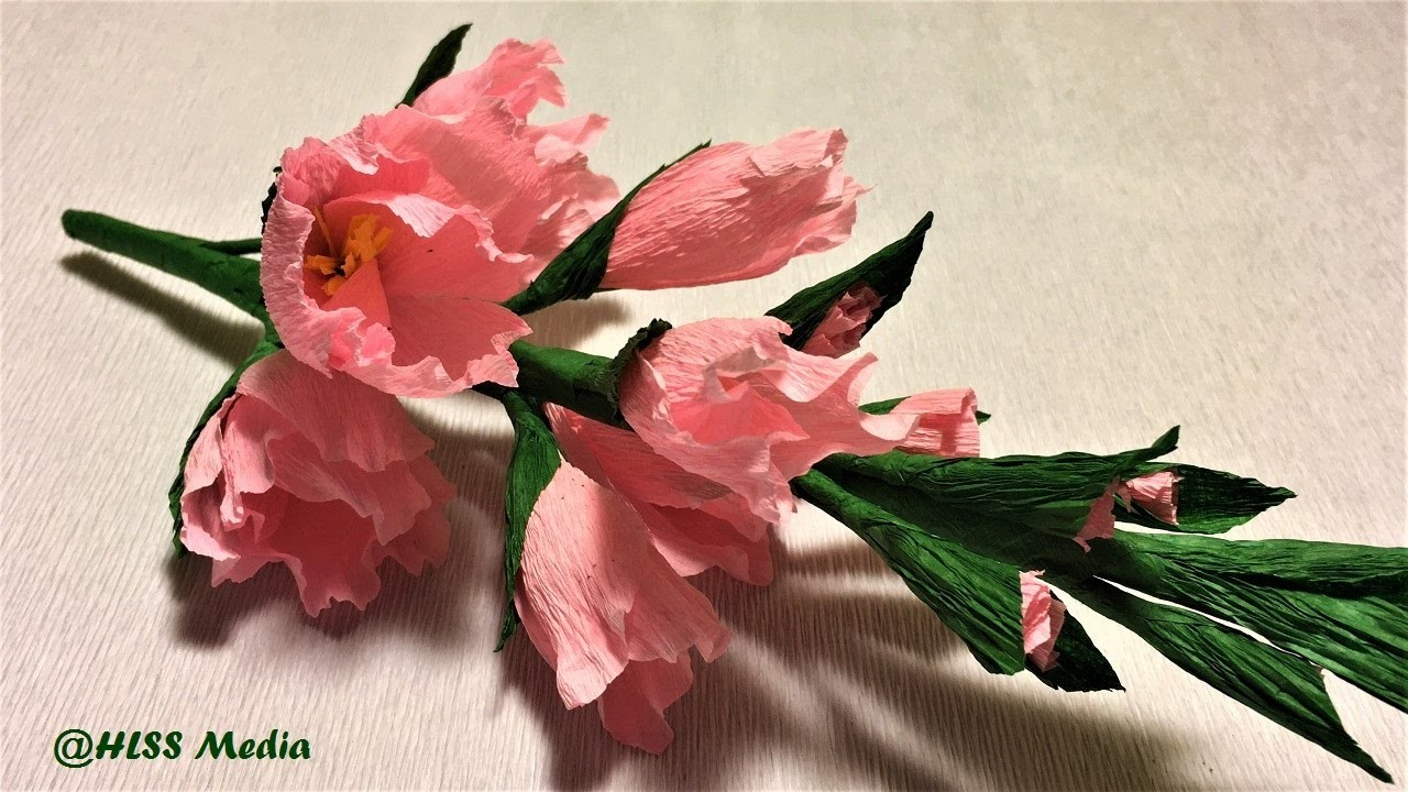Making Easy Origami Gladiolus Paper Flower Step By Step Diy Crepe