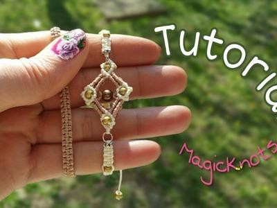 Micro Macrame Square Bracelet ♥ DIY ♥