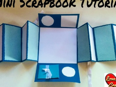Mini Scrapbook Tutorial | DIY- How to Make a Scrapbook | Scrapbook for beginners