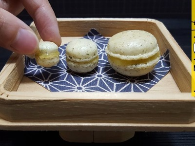 Miniature How to cook Macaron Lemon Curd DIY Miniature Food