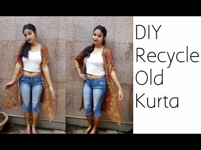 No Sew Convert Kurta into Shrug In 2 Minutes  | D.I.Y