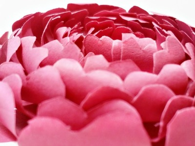 Paper flowers rose peony diy tutorial easy for children origami flower folding 3d for kids,for begin
