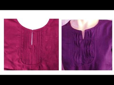 Pintuck neck pattern DIY Tutorial