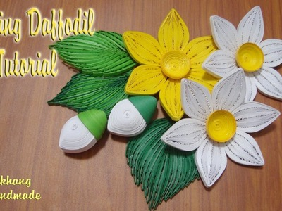 QUILLING DAFFODIL FLOWER TUTORIAL | DIY PAPER DAFFODIL FLOWER TUTORIAL