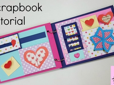 Scrapbook Tutorial.How to make Scrapbook.DIY Scrapbook Tutorial.Birthday Scrapbook Ideas