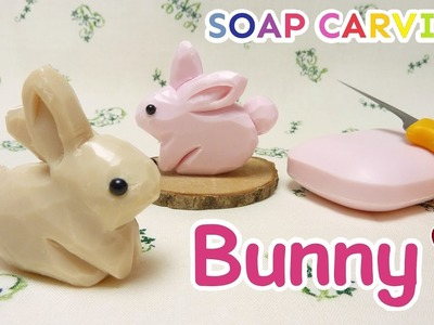 SOAP CARVING | Bunny | Easy | DIY | Real sound | ASMR | Soap decoration | tutorial|