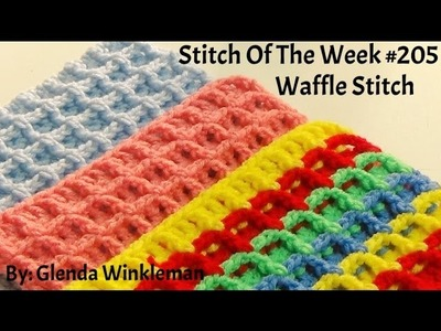 (Stitch Of The Week)  How To Crochet Waffle Stitch - Free Pattern.Tutorial