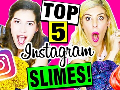 TESTING TOP 5 DIY INSTAGRAM SLIME!