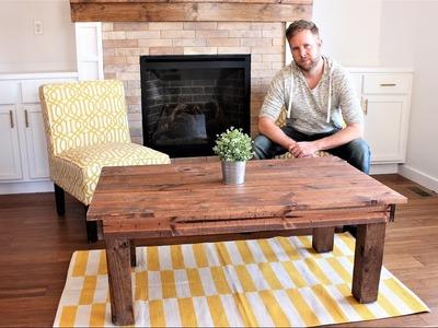 The $30 Farmhouse Coffee Table - DIY Project