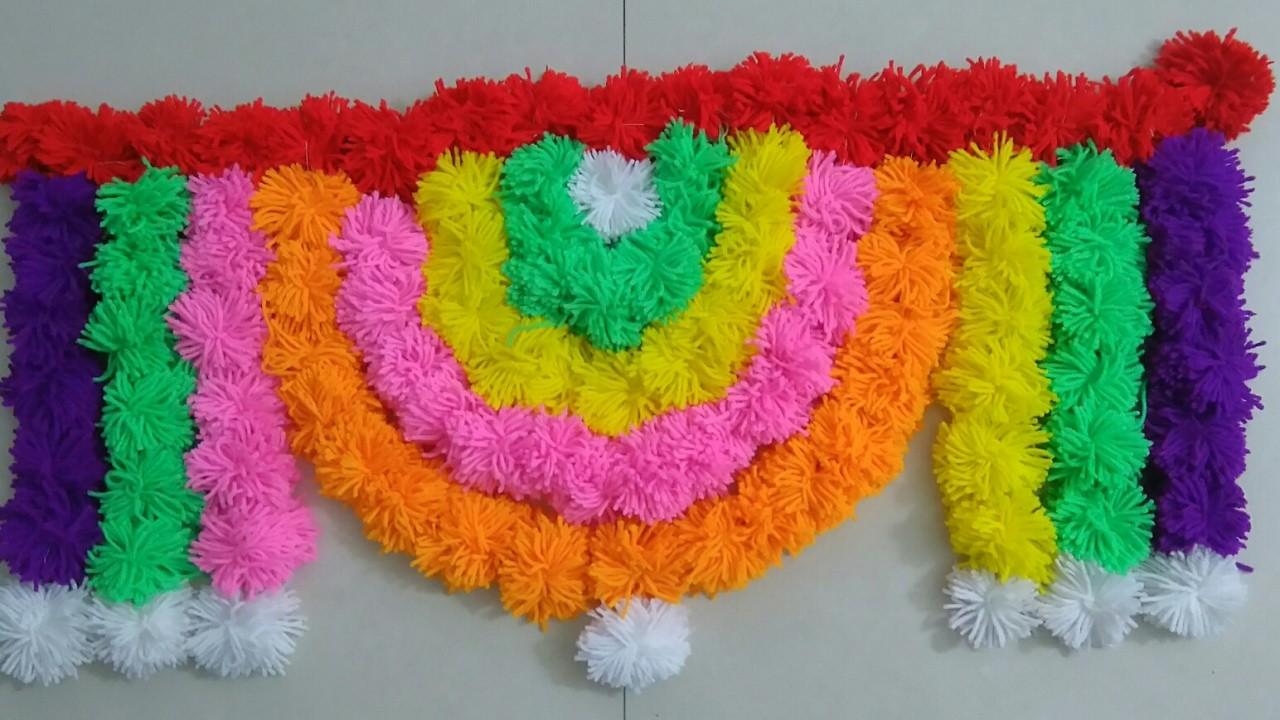Toran designs of doors crochet | DIY Innovative & Beautiful woolen Toran  Part - 4