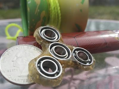 Worlds smallest fidget spinner tutorial.  DIY YoYo Bearing Fidget Spinner.