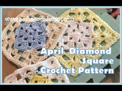 April Diamond Square Crochet Pattern