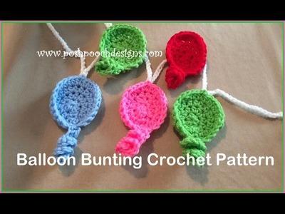 Balloon Bunting Crochet Pattern